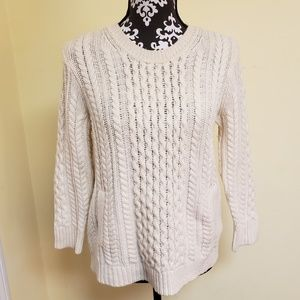 J. Crew Cable Knit Sweater, sz S